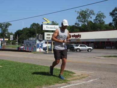 Running through Columbia, AL