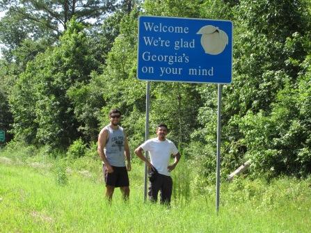 Entering Georgia!